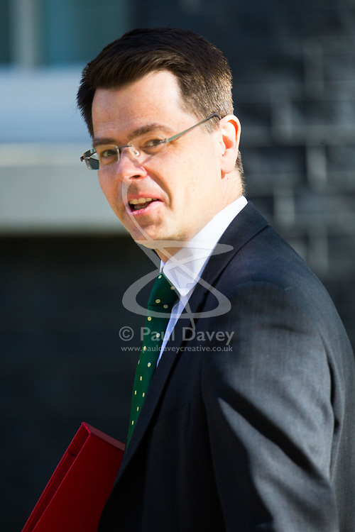 Communities Secretary James Brokenshire arrives at 10 Downing Street to attend the weekly cabinet meeting.