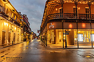 Early morning on Royal and St Louis Streets in the French Quarter in New Orleans, Louisiana, USA