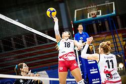 Andela Veselinovic of Nova KBM Branik during 3rd Leg Volleyball match between Calcit Volley and Nova KBM Maribor in Final of 1. DOL League 2020/21, on April 17, 2021 in Sportna dvorana, Kamnik, Slovenia. Photo by Matic Klansek Velej / Sportida