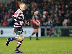 Cardiff Blues' Gareth Anscombe<br /> <br /> Photographer Simon King/Replay Images<br /> <br /> Guinness Pro14 Round 11 - Dragons v Cardiff Blues - Tuesday 26th December 2017 - Rodney Parade - Newport<br /> <br /> World Copyright © 2017 Replay Images. All rights reserved. info@replayimages.co.uk - www.replayimages.co.uk