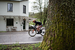 Amy Pieters (NED) of Boels-Dolmans Cycling Team attacks during the Liege-Bastogne-Liege Femmes - a 138.5 km road race, between Bastogne and Liege on April 28, 2019, in Wallonie, Belgium. (Photo by Balint Hamvas/Velofocus.com)