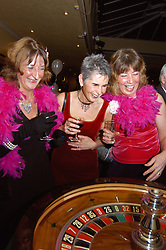 Gambling on roulette wheel for fun at a  Charity Ball Lancashire UK