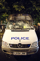 © Licensed to London News Pictures. 08/08/2011. Brixton, UK. Police came under attack during another night of rioting and looting across London. Photo credit : Joel Goodman/LNP