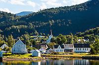 Norway, Jondal. Village in Hardangerfjord.
