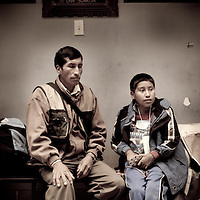 Luis Elvis and his father. Luis has a severe clubbed foot that needs a triple axis restructure. Oregon orthopedic doctors and support staff helped hundreds of Peruvian children in Coya, Peru performing corrective surgeries and therapy to improve their quality of life.