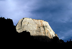 UT: Utah; Zion National Park, Great White Throne  .Photo Copyright: Lee Foster, lee@fostertravel.com, www.fostertravel.com, (510) 549-2202.Image: utzion203