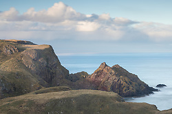 Sunset on a winter day in St Abb's on the East Lothian coast