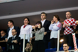 Andrej Plenkovic, President of the Government of Croatia during handball match between National teams of Croatia and France on Day 7 in Main Round of Men's EHF EURO 2018, on January 24, 2018 in Arena Zagreb, Zagreb, Croatia.  Photo by Vid Ponikvar / Sportida