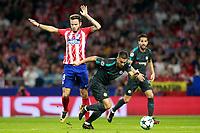 Atletico de Madrid's Saul Niguez (l) and Chelsea FC's Eden Hazard (c) and Cesc Fabregas during Champions League 2017/2018, Group C, match 2. September 27,2017. (ALTERPHOTOS/Acero)
