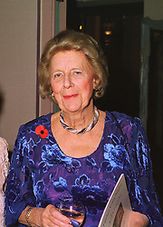 THE DUCHESS OF NORFOLK at a dinner in London on 5th November 1998.<br /> MLR 4 WORO