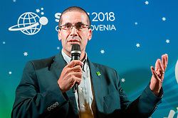 Pablo Perez, ITTF Para Table tennis manager during Award ceremony at Day 4 of 15th Slovenia Open - Thermana Lasko 2018 Table Tennis for the Disabled, on May 12, 2018, in Dvorana Tri Lilije, Lasko, Slovenia. Photo by Vid Ponikvar / Sportida