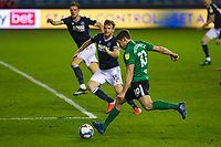 Football - 2020 / 2021 Sky Bet (EFL) Championship - Millwall vs Birmingham City  - The Den<br /> <br /> Lukas Jutkiewicz (Birmingham City) closes in on the Millwall goal <br /> <br /> COLORSPORT/DANIEL BEARHAM