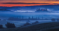 Scenery Tuscany morning at springtime