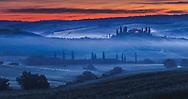Scenery Tuscany morning at springtime