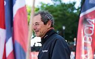 IMOCA Ocean Masters. New York - Barcelona Race start. Pictures of the Safran Sailing Team skipper Marc Guillemot (FRA) during the race start today<br />  Credit: Mark Lloyd/DPPI