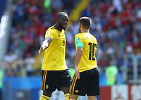 Romelu Lukaku and Eden Hazard (Belgium) celebration<br /> Moscow 23-06-2018 Football FIFA World Cup Russia  2018 <br /> Belgium - Tunisia / Belgio - Tunisia <br /> Foto Matteo Ciambelli/Insidefoto