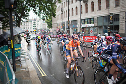Katarzyna Pawlowska (POL) of Boels-Dolmans Cycling Team rides near the end of the peloton in the neutral lap of the Prudential Ride London Classique - a 66 km road race, starting and finishing in London on July 29, 2017, in London, United Kingdom. (Photo by Balint Hamvas/Velofocus.com)