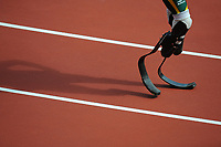 Olympics - London 2012 - Athletics<br /> Oscar Pistorius (RSA) in action during his in his heat of the Men's 400m at the Olympic Stadium, London