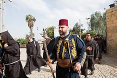 2018 Holy Week: Ritual washing of feet at the Cenacle in Jerusalem
