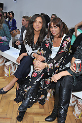 Left to right, MIQUITA OLIVER and WILLA KESWICK at the Sass & Bide fashion show as part of London Fashion Week Spring Summer 2013 held at the Lindley Hall, Royal Horticultural Halls, London SW1 on 14t September 2012.