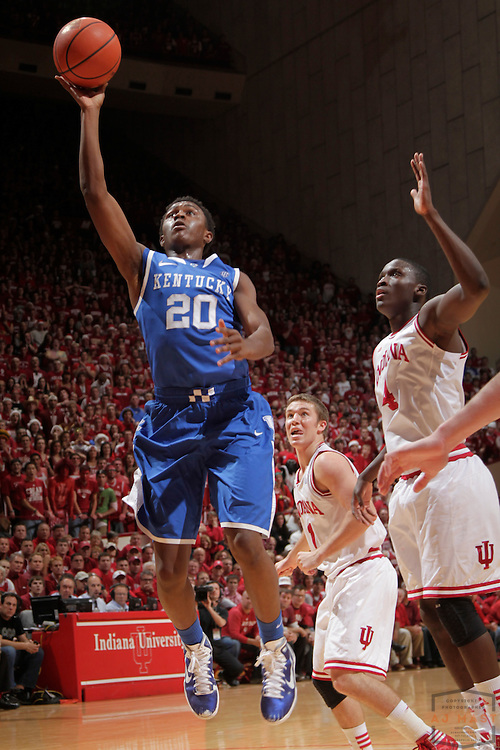 10 December 2011: Kentucky Wildcats guard Doron Lamb (20) as the Indiana Hoosiers played the Kentucky Wildcats in a college basketball game in Bloomington, Ind.