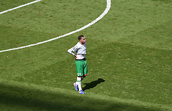 Richard Keogh of Republic of Ireland reacts to losing  - Mandatory by-line: Joe Meredith/JMP - 26/06/2016 - FOOTBALL - Stade de Lyon - Lyon, France - France v Republic of Ireland - UEFA European Championship Round of 16
