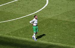 Richard Keogh of Republic of Ireland reacts to losing  - Mandatory by-line: Joe Meredith/JMP - 26/06/2016 - FOOTBALL - Stade de Lyon - Lyon, France - France v Republic of Ireland - UEFA European Championship Round of 16