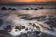 Moeraki boulders at dawn, Otago coast,
