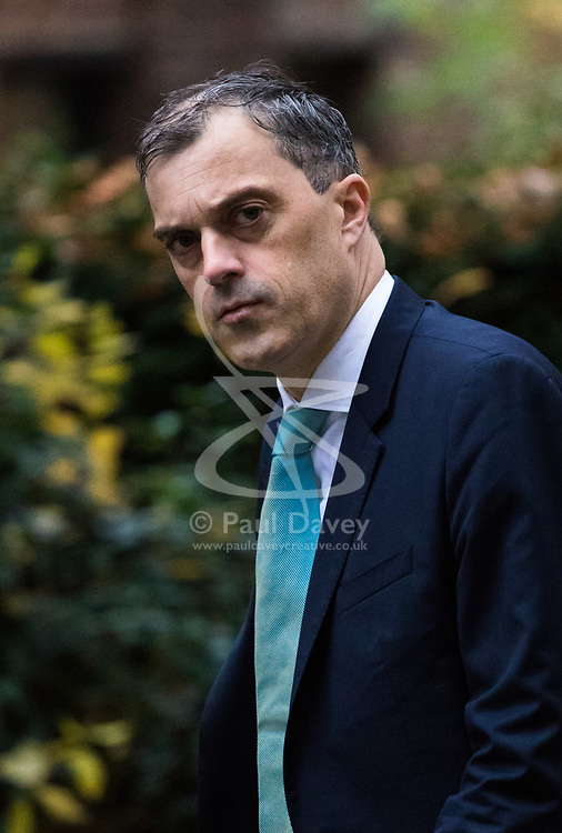 London, December 05 2017. Conservative Chief Whip Julian Smith arrives at 10 Downing Street to attend the weekly cabinet meeting. © Paul Davey
