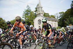 Sheyla Gutierrez in the bunch on lap three at Grand Prix de Plouay Lorient Agglomération a 121.5 km road race in Plouay, France on August 26, 2017. (Photo by Sean Robinson/Velofocus)