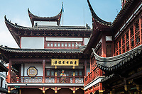 Shanghai, China - April 7, 2013: tea house of Fang Bang Zhong Lu at the old city of Shanghai in China on april 7th, 2013