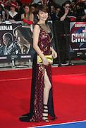 April 26, 2016 - Ryoko Yonekura attending 'Captain America: Civil War' European Film Premiere at Vue Westfield in London, UK.<br /> ©Exclusivepix Media