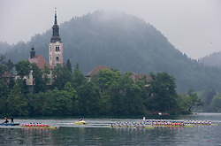 Men's Eight before the finish line during Final A at Rowing World Cup  on May 30, 2010, at Bled's lake in Zaka, Bled, Slovenia. (Photo by Vid Ponikvar / Sportida)