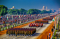 Indian Army marching contingents, Republic Day Parade, Rajpath, New Delhi, India