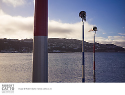 Phil Dadson installs a new kinetic sculpture work, Akau Tangi, in Evans Bay, Wellington.  The total Walkway has five major artworks, each of which responds to Wellington's notorious wind in a unique manner. The five are Pacific Grass, Konstantine Dimopoulos (2001); Zephyrometer, Phil Price (2003); Tower of Light, Andrew Drummond (2005); Wellington Urban Forest, Leon van den Eijkle and Allan Brown; and now Akau Tangi, The Sighing Sound of the Wind by Phil Dadson (2010).