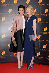 Olivia Colman and Jodie Whittaker attend the RTS Programme Awards. London, United Kingdom. Tuesday, 18th March 2014. Picture by Chris Joseph / i-Images