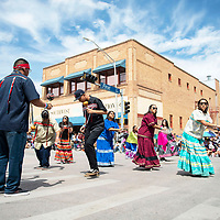 California Bird Singers at the Gallup Inter-Tribal Indian Ceremonial parade Saturday morning in Gallup.