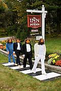 Pumpkin people dressed as the Beatles.