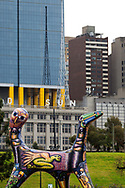 A view of the 'Angel' Sculpture stands proud in front of the Herald Sun building during COVID-19 in Melbourne, Australia. Victoria has recorded 14 COVID related deaths including a 20 year old, marking the youngest to die from Coronavirus in Australia, and an additional 372 new cases overnight. (Photo by Dave Hewison/Speed Media)