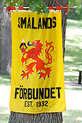 Poster and symbol for Southern province (Smalands) of Sweden and economic cooperative (Forbundet).  Minneapolis Minnesota USA