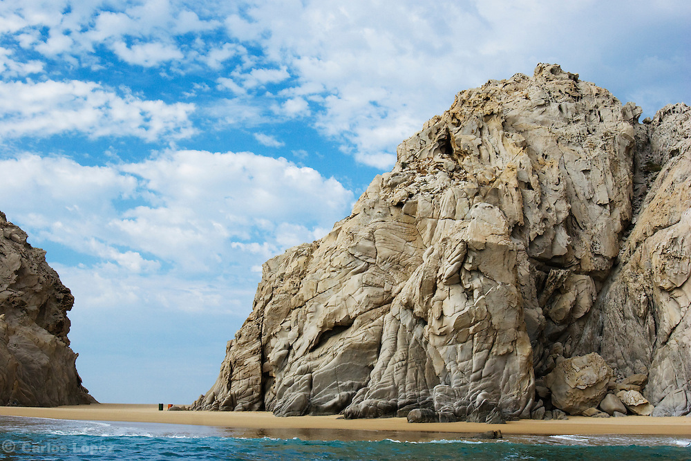 One big rock in the bay of Cabo San Lucas.