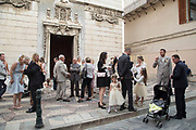 Wedding party on 16th September 2017 in Bastia, Corsica, France. Bastia is a French commune in the Haute-Corse department of France located in the north-east of the island of Corsica at the base of Cap Corse. Bastia is the principal port and commercial town of the island. The inhabitants of Bastia are known as Bastiais or Bastiaises.