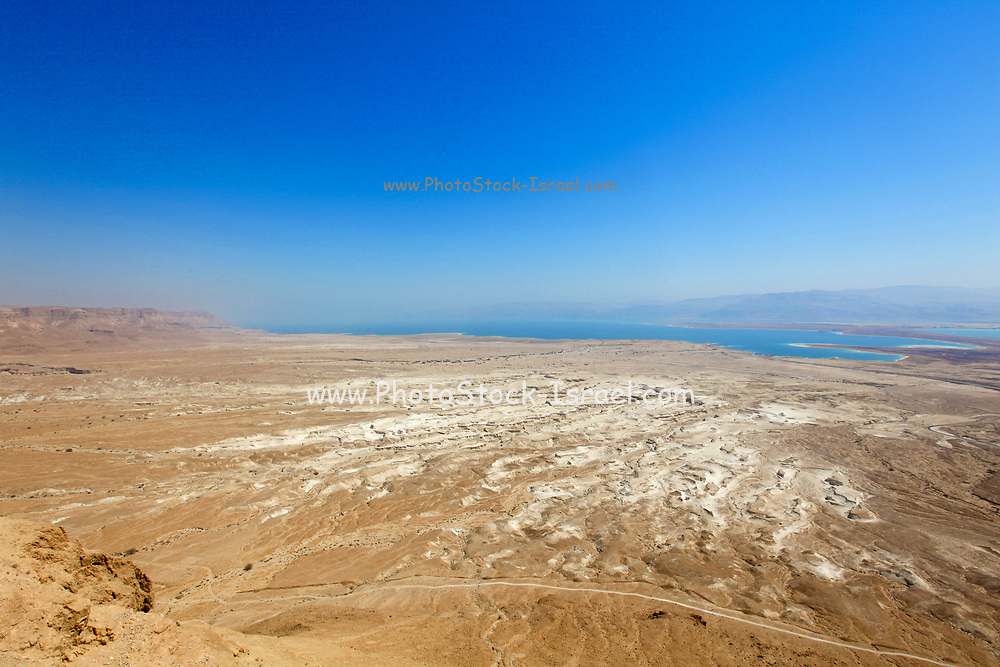 View of the Dead Sea, Israel as seen from mount Masada