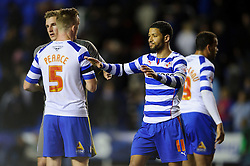 Jobi McAnuff (JAM) of Reading looks on after the match finishes in a 1-1 draw - Photo mandatory by-line: Rogan Thomson/JMP - 07966 386802 - 14/04/2014 - SPORT - FOOTBALL - Madejski Stadium, Reading - Reading v Leicester City - Sky Bet Football League Championship.
