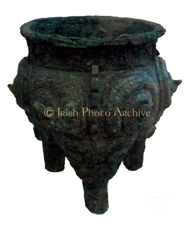 Cooking vessel. Shang dynasty (1765-1122 B.C) bronze; China