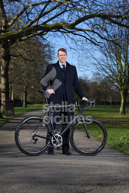 Ben Elliott, British businessman and philanthropist, pictured close to the central London offices of his company, Quintessentially Group.<br /> Elliott is cycling from Slovenia to Austria for The Felix Project.<br /> Picture by Daniel Hambury/@stellapicsltd 07813022858<br /> 12/02/2018