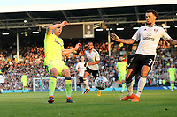LONDON, ENGLAND - MAY 14:LONDON, ENGLAND - MAY 14:Andreas Weimann, of Derby County challenges for the ball with Fulhams, Ryan Fredericks
