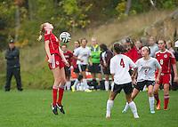St Paul's School girls varsity Soccer versus Exeter.  ©2016 Karen Bobotas Photographer