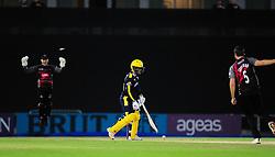Tim Groenewald celebrates the wicket of Lewis McManus.  - Mandatory by-line: Alex Davidson/JMP - 02/08/2016 - CRICKET - The Ageas Bowl - Southampton, United Kingdom - Hampshire v Somerset - Royal London One Day