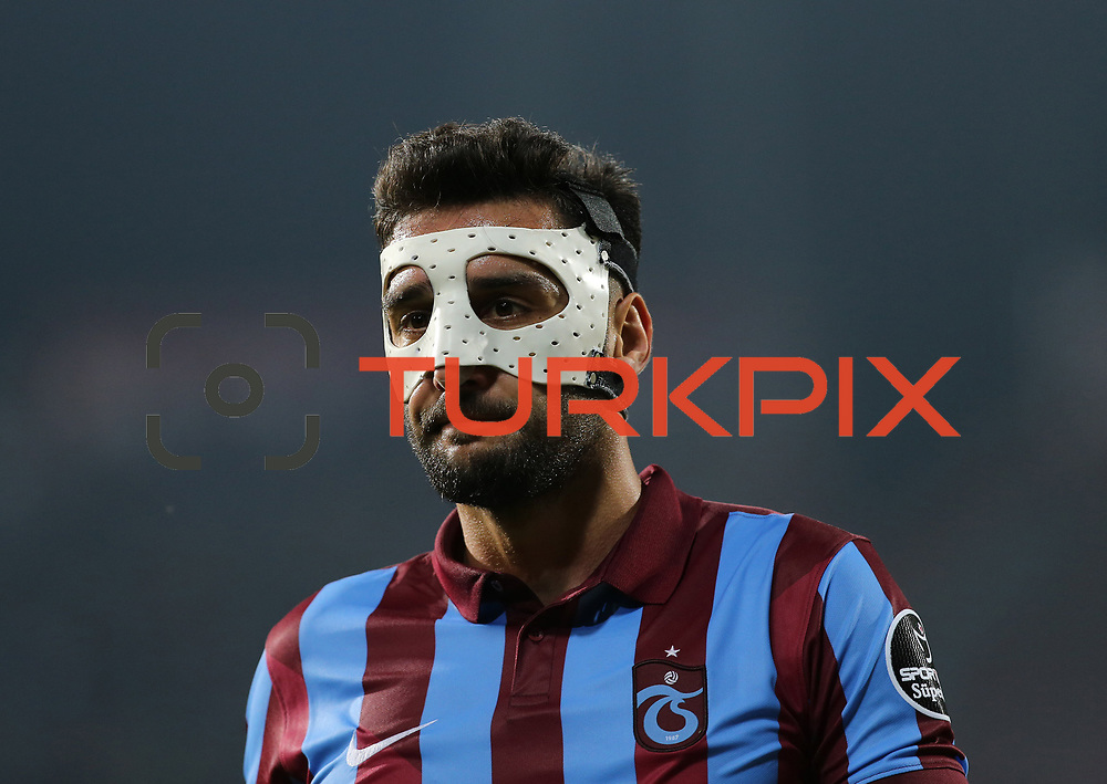 Trabzonspor's and Besiktas's during their Turkish SuperLeague Derby match Trabzonspor between Besiktas at the Avni Aker Stadium at Trabzon Turkey on Sunday, 03 May 2015. Photo by TVPN/TURKPIX